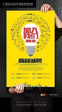 电子产品创意招聘海报