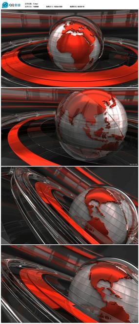 地球转动动态视频