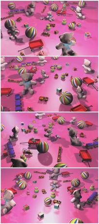 儿童玩具卡通视频素材