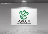 凤凰丝带标志 艺术凤凰标志 CDR