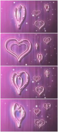 粉色背景爱心视频素材