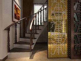 豪华楼梯装修设计模型