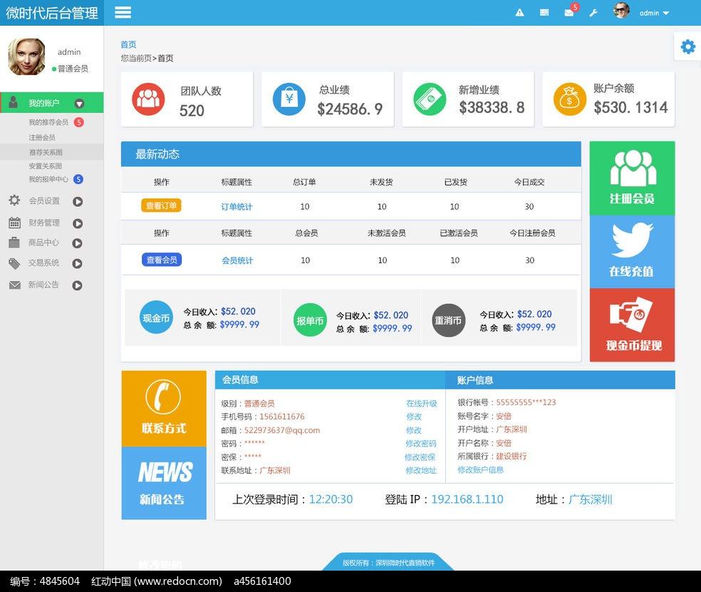 后台管理模版_网站模板/flash网页图片素材