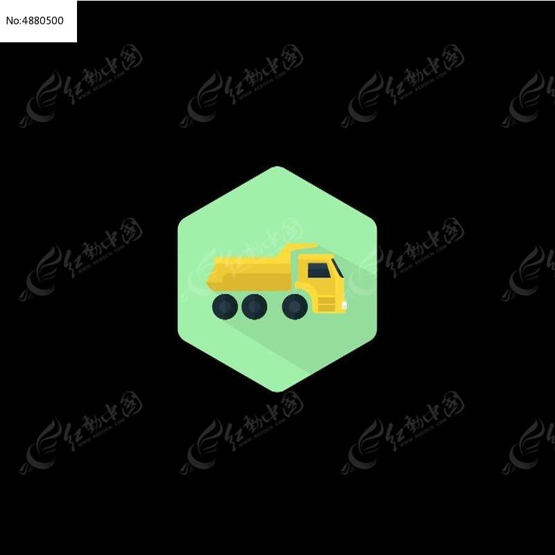 卡通卡车图标视频素材avi素材下载_动态|特效|背景