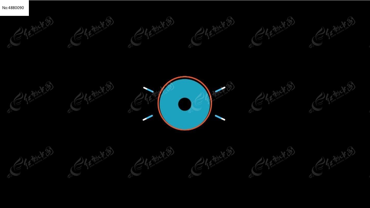 蓝色粗圆圈平面动态视频