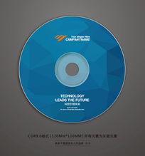 蓝色企业光盘贴背景设计 CDR