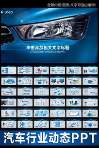 汽车销售服务业绩计划总结会议PPT