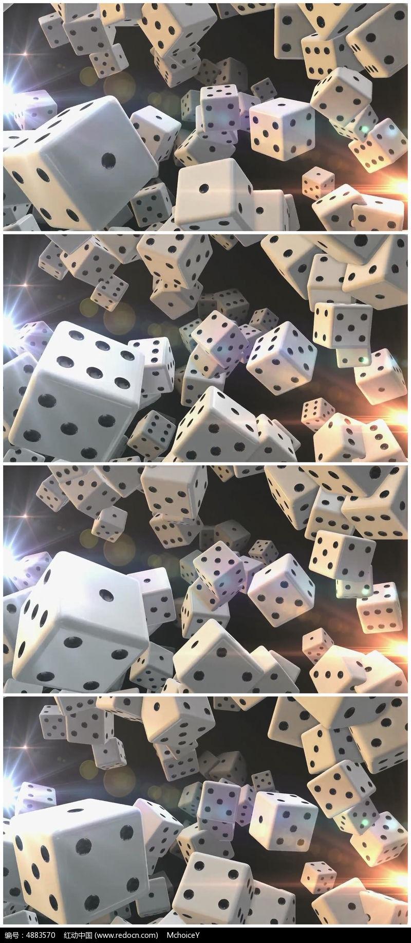 三维骰子动画视频素材图片