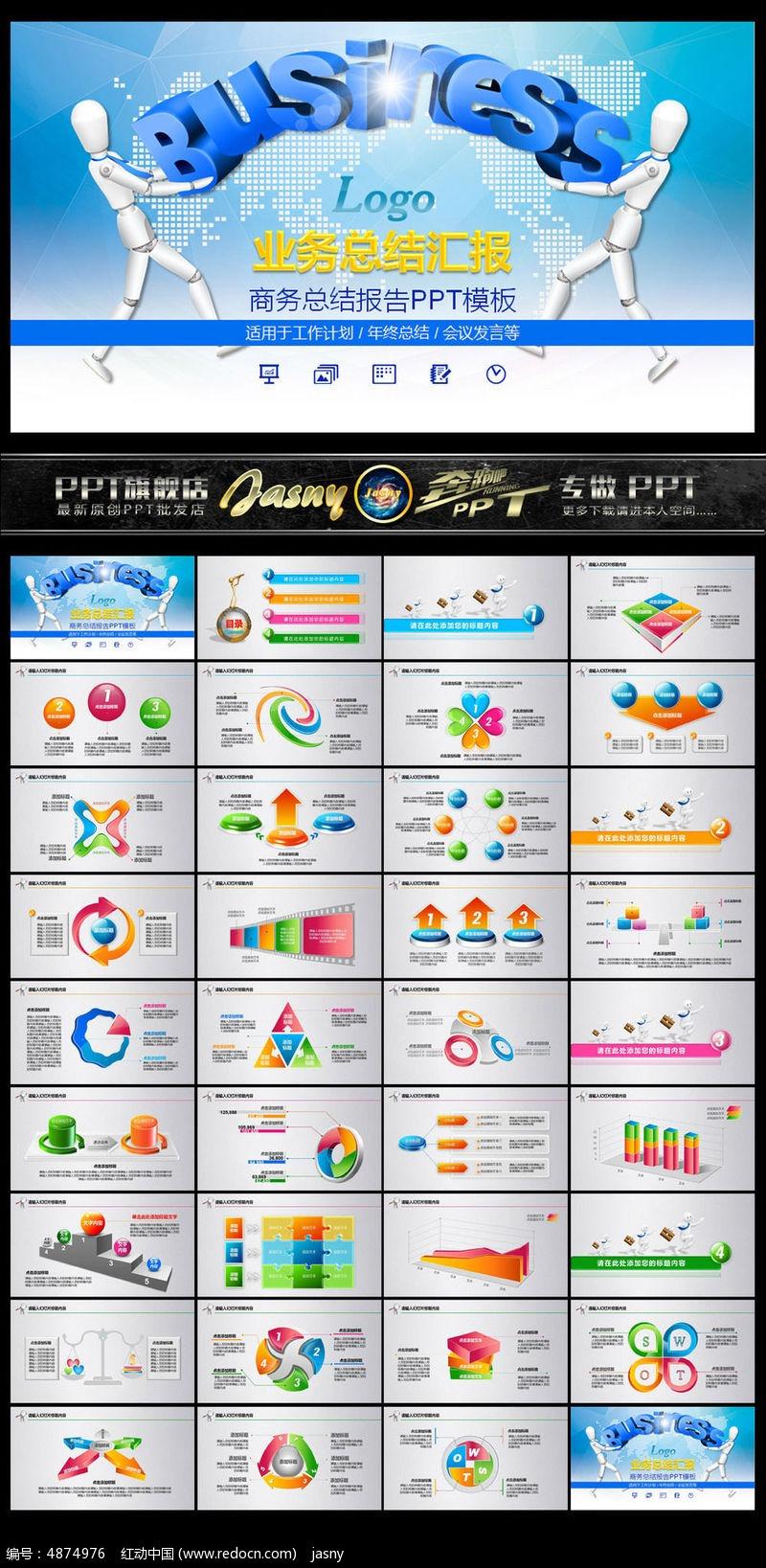 商业讲座业务培训PPT模板