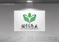 双手呵护logo设计 生物科技logo