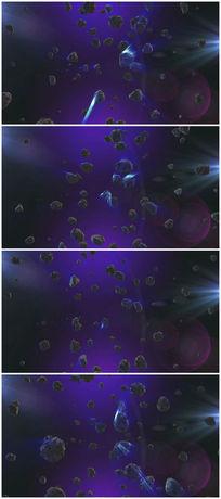 外太空陨石视频素材