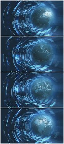 新闻地球旋转视频素材