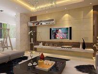 造型电视墙背景设计模型