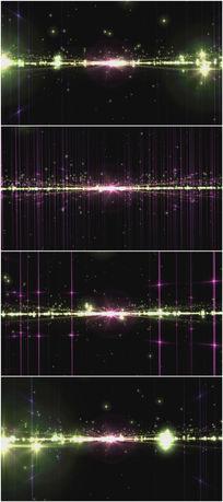2k超清闪耀震撼大气粒子水平面视频素材
