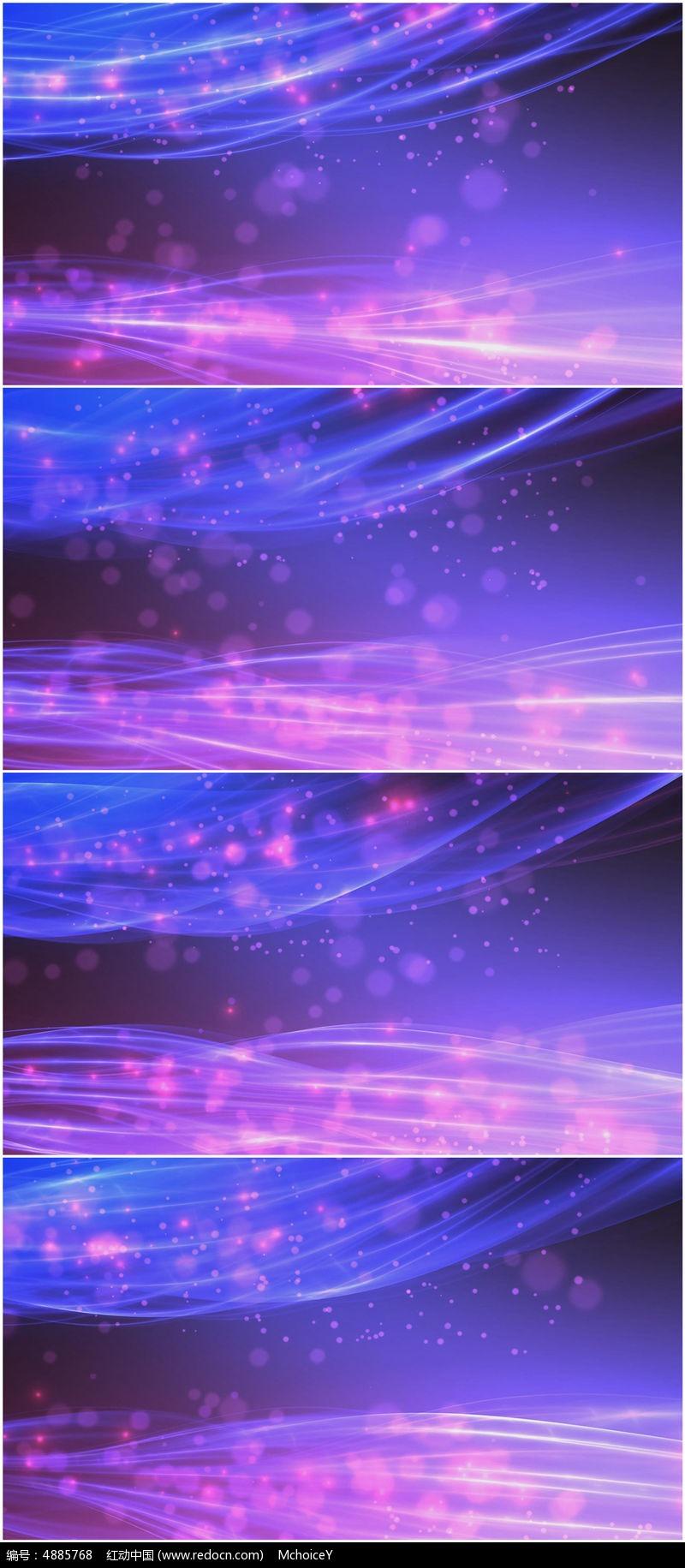 2k唯美大气紫色光线粒子缓慢动态视频素材