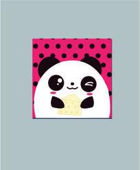 爱吃蛋糕的熊猫卡通本子图案设计 AI