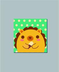 冰淇淋狮子本子封面