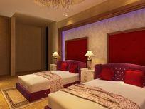 宾馆房间装修设计模型素材