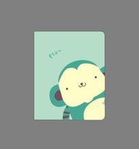 韩国可爱插画卡通猴子记事本封面