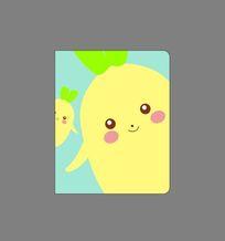 韩国可爱插画卡通萝卜记事本封面