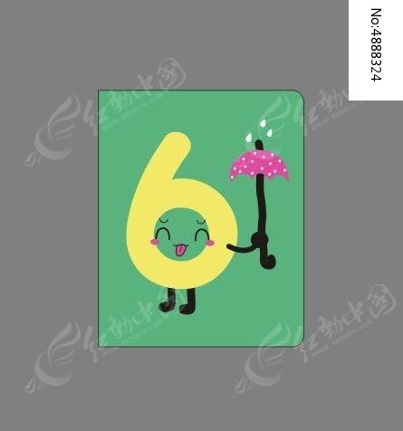韩国趣味创意数字6本册封面图片