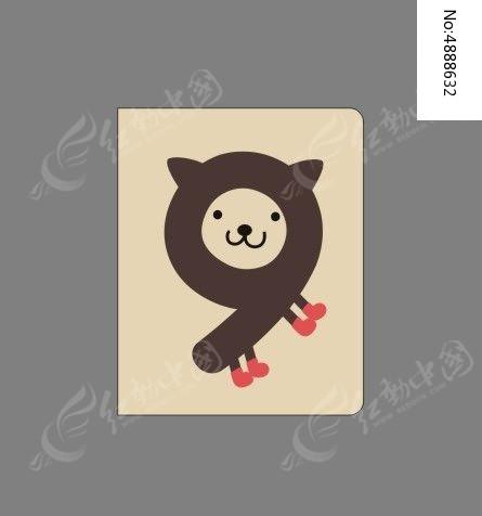韩国趣味创意数字9本册封面图片