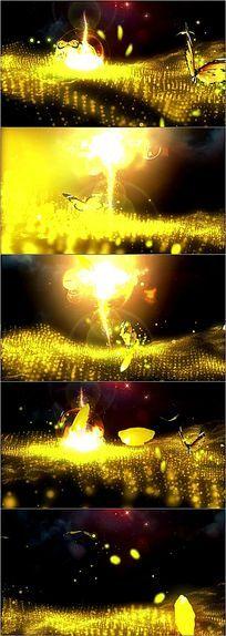 金色粒子蝴蝶晚会舞台led视频