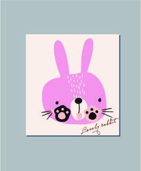 可爱卡通小兔记事本封面 AI