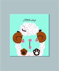 可爱卡通小羊记事本封面