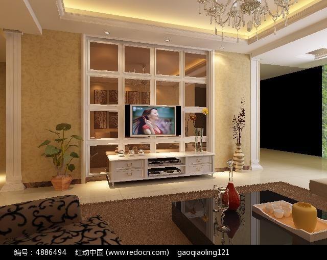 欧式造型客厅装修设计模型