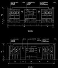 墙面造型装饰柜施工设计图纸