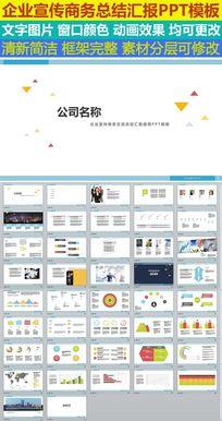 企业宣传商务交流总结汇报通用PPT模板