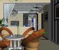 休闲娱乐室装修设计模型