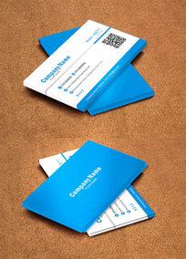 高端简约蓝色企业名片设计
