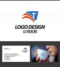 T字母LOGO标志设计 AI