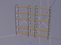多层置物架C4D模型