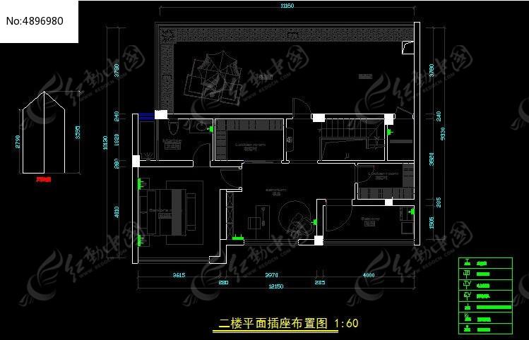 二楼平面插座布置图