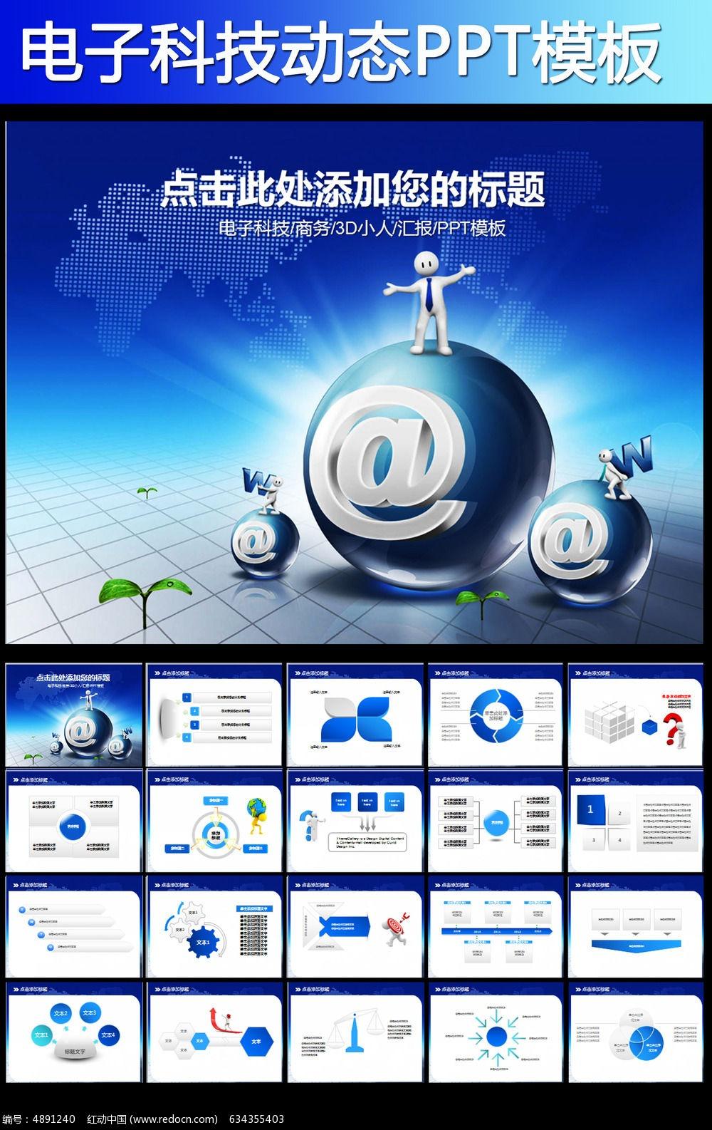 互联网大数据云计算电子商务ppt模板