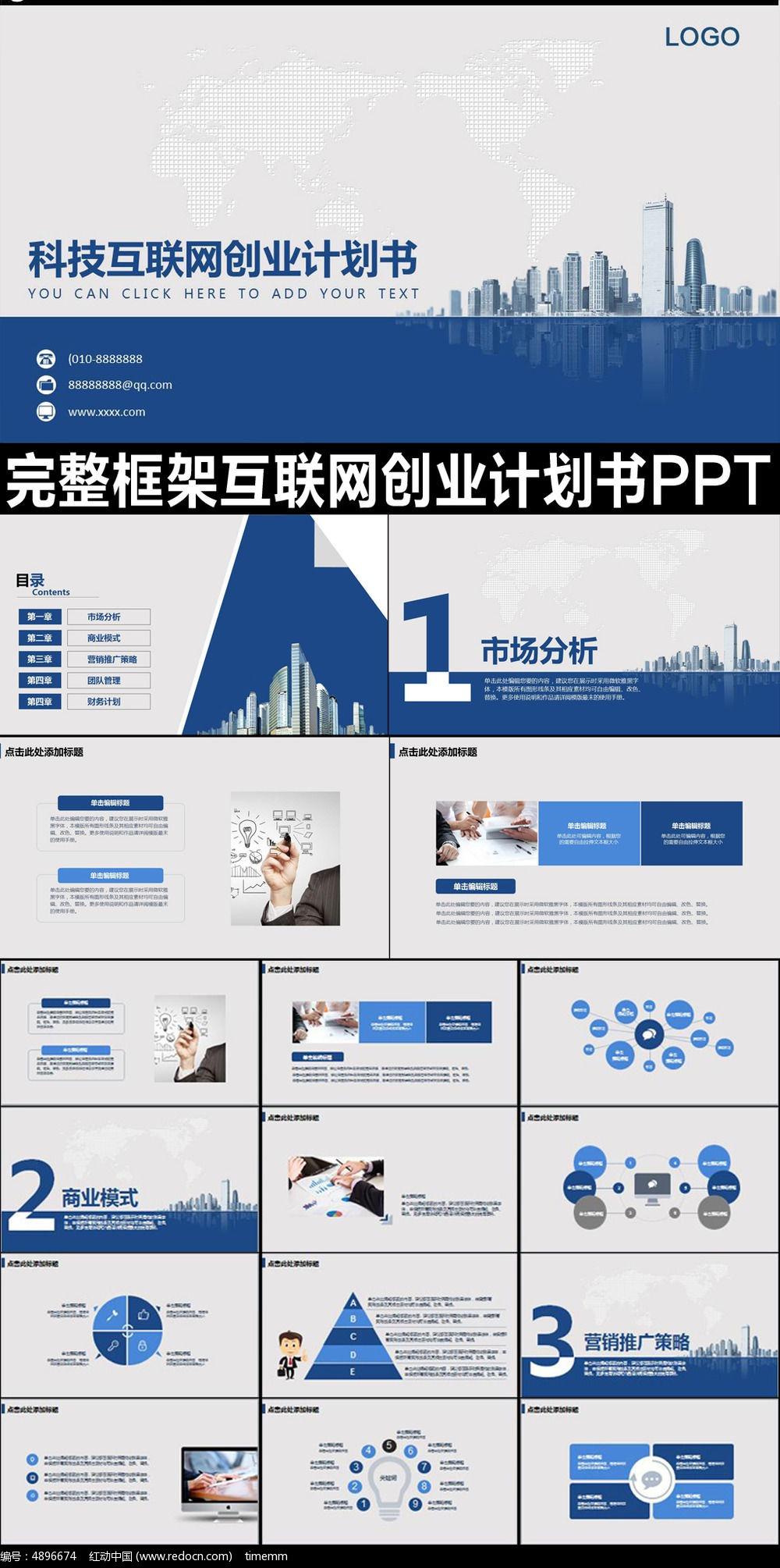 互联网投资计划融资 报告 ppt模板-投资报告模板jpg大全 投资报告模板