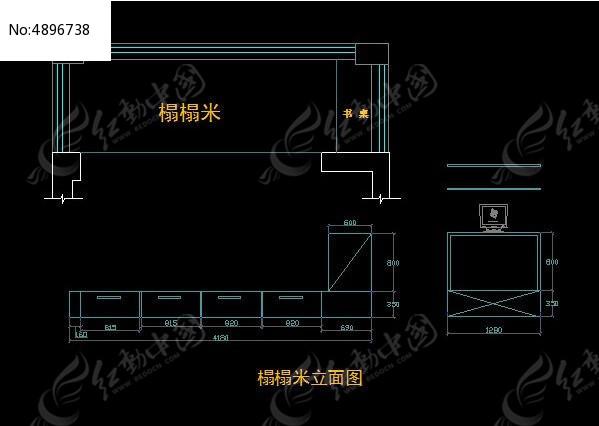 榻榻米立面图CAD素材下载 室内装修设计图片 编号4896738