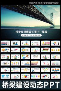 桥梁大河城市工程建筑规划动态ppt
