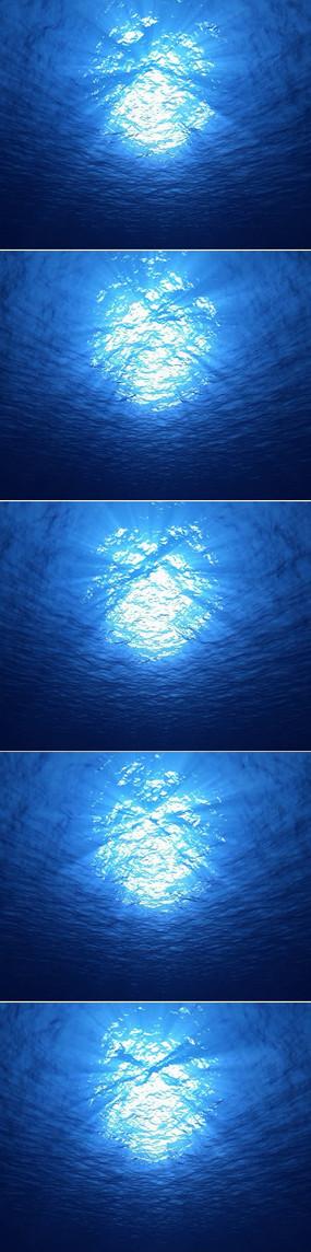 深海蔚蓝海洋背景视频素材
