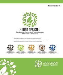 时尚绿色化妆品标志设计 CDR