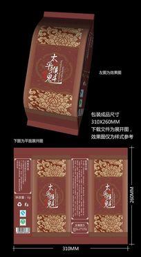 太平猴魁茶叶真空包装袋模板 CDR
