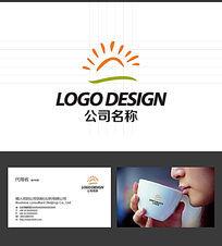 太阳大地LOGO标志设计 AI