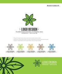 鲜花花艺店创意标志设计