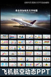 飞机航空公司业绩报告年终工作计划PPT