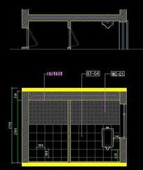 餐厅 吊顶 剖面图 CAD图纸图片素材