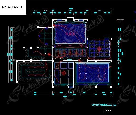 图纸地下室开关线路图_CAD别墅图片素材cad高程坐标v图纸怎么图片