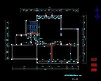 别墅地下室原始墙体规划图